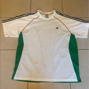 Adidas ClimaCool white and Green tee
